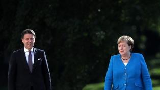 Merkel y Conte reclaman unidos un paquete de rescate de la Unión Europea