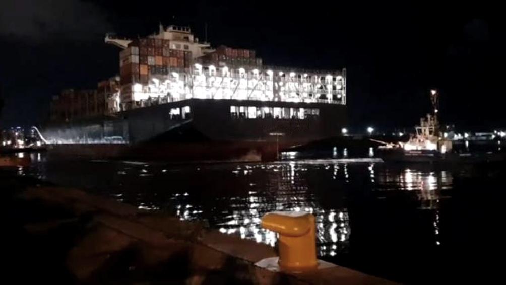 Se trata del segundo barco que llega desde Shangai con material sanitario.