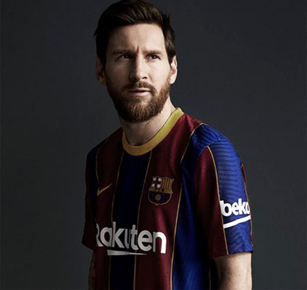 Para promocionar la nueva camiseta, Barcelona utilizó una imagen de Messi