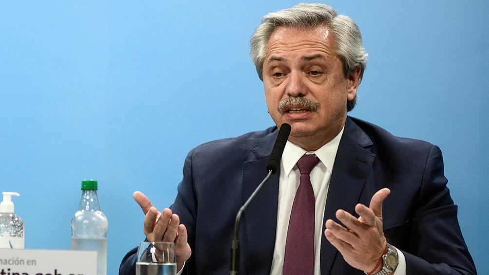 """El mandatario abogó para que """"la convivencia democrática se recupere en Venezuela a través del diálogo y sin intromisión""""."""