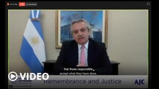"""Fernández, sobre el atentado a la AMIA: """"Necesitamos conocer la verdad ya que no estamos en paz"""""""