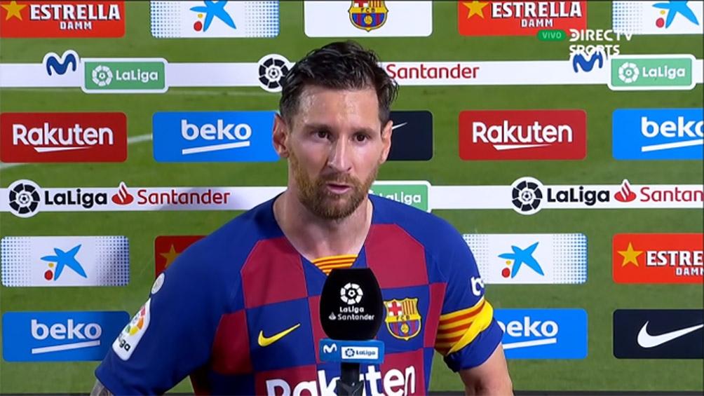 Messi muy duro con las declaraciones tras la derrota ante Osasuna (Foto: Imagen de TV DirecTV Sports)