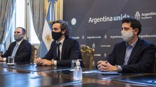Cafiero, De Pedro y Guzmán firmaron acuerdos de asistencia financiera con cuatro provincias