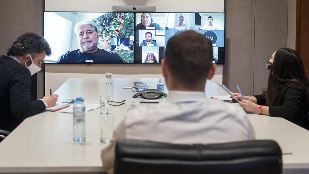Del encuentro virtual, que se extendió más de una hora, participaron desde la sede del Ministerio de Economía por la subsecretaría de Relaciones Institucionales, Rodrigo Ruete y Melina Mallamace.