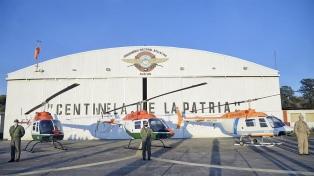 Entregaron tres helicópteros a Seguridad para articular las tareas con las provincias
