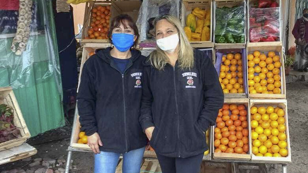 Las cuñadas pusieron la verdulería en la localidad de Gutiérrez, en el partido bonaerense de Berazategui.