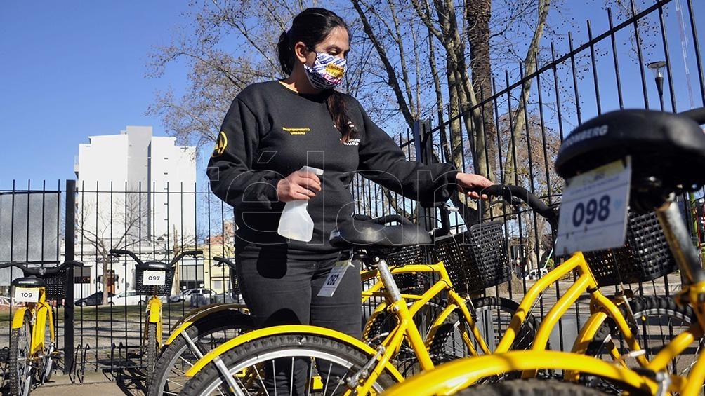 El Municipio garantiza que las bicicletas sean sanitizadas antes y después de cada préstamo