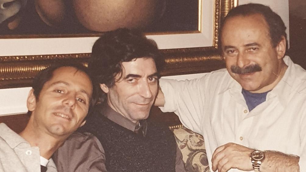 """Stivel produjo """"19 días y 500 noches"""", el gran álbum de Joaquín Sabina. Con ellos, Jorge Guinzburg."""