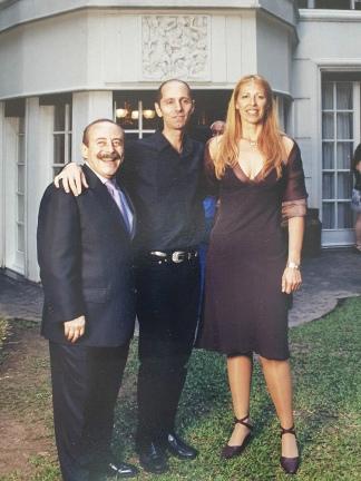 En Buenos Aires, con su hermana Andrea y su famoso cuñado.