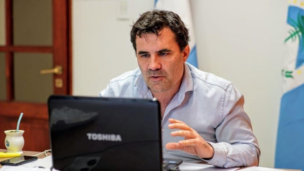Darío Martinez sec.de Energía en video conferencia con Brasil
