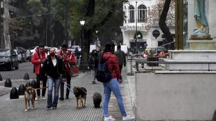Volvieron a trabajar los paseadores de perros en la ciudad de Buenos Aires