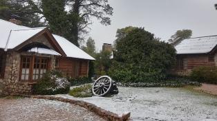 Se registraron nevadas en Villa Ventana y el Abra de la Ventana