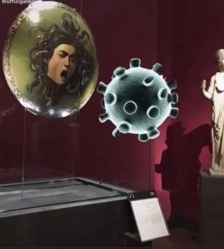 Captura de pantalla de uno de los post de la galería Uffizi.