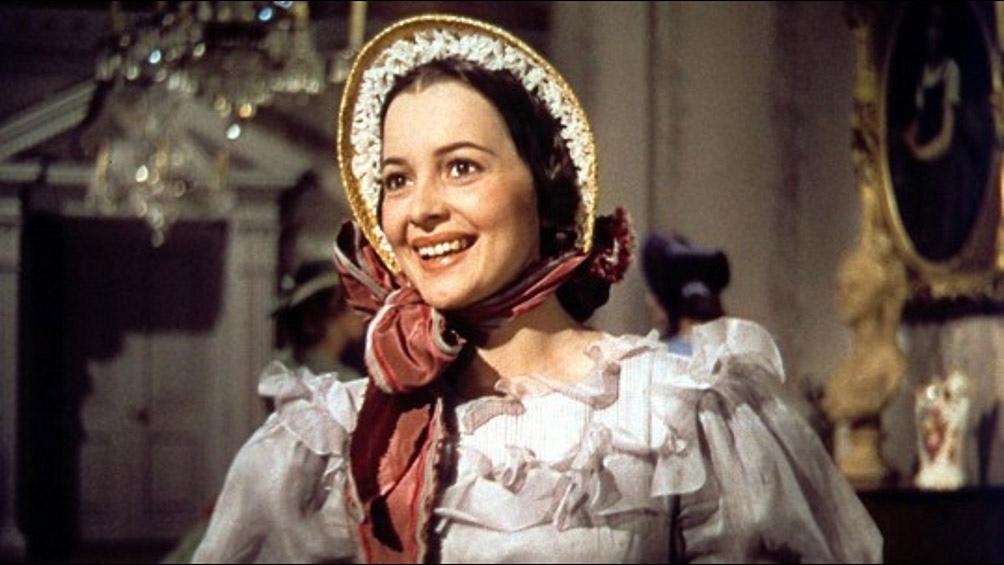 """Olivia de Havilland en """"Lo que el viento se llevó"""""""