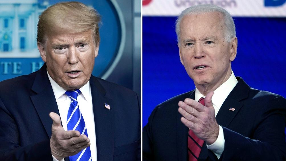 Trump y Biden, candidatos presidenciales