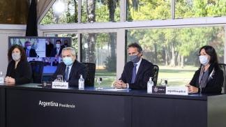 Alberto Fernández se conectó desde Olivos con el Hospital General de Agudos Doctor René Favaloro, situado en Rafael Castillo.