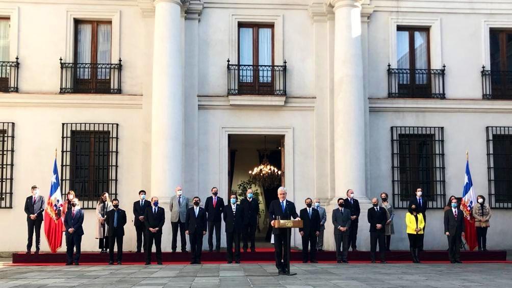 Piñera, en la presentación de los nuevos funcionarios.