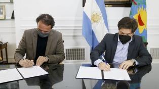 Kicillof y Katopodis firmaron convenios para obras por 9.000 millones de pesos