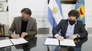 El gobernador bonaerense y el ministro de Obras Públicas de la Nación.