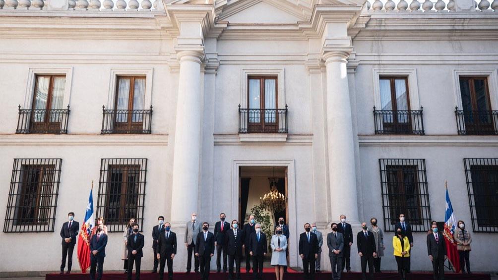 El presidente Sebastián Piñera en la toma de juramentos a los nuevos funcionarios.