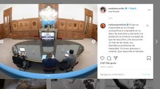 """Carlos """"Indio"""" Solari elogió al ministro de Interior: """"es irreductible en su mirada sociopolítica"""""""