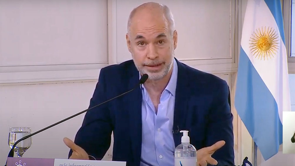 Rodríguez Larreta participa en la Residencia de Olivos de los anuncios de la extensión del aislamiento social.