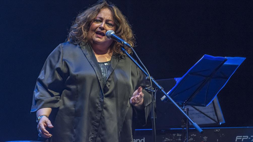 La cantante bahiana María Creuza.