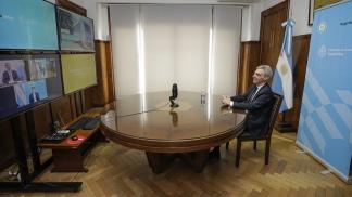 La teleconferencia entre el ministro Mario Meoni y el gobernador Jorge Capitanich.