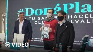Kicillof se reunió con donantes de plasma de campaña que organiza la AFA