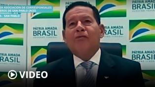 """Mourao: """"La pandemia perjudicó el proceso de distensión entre Brasil y Argentina"""""""