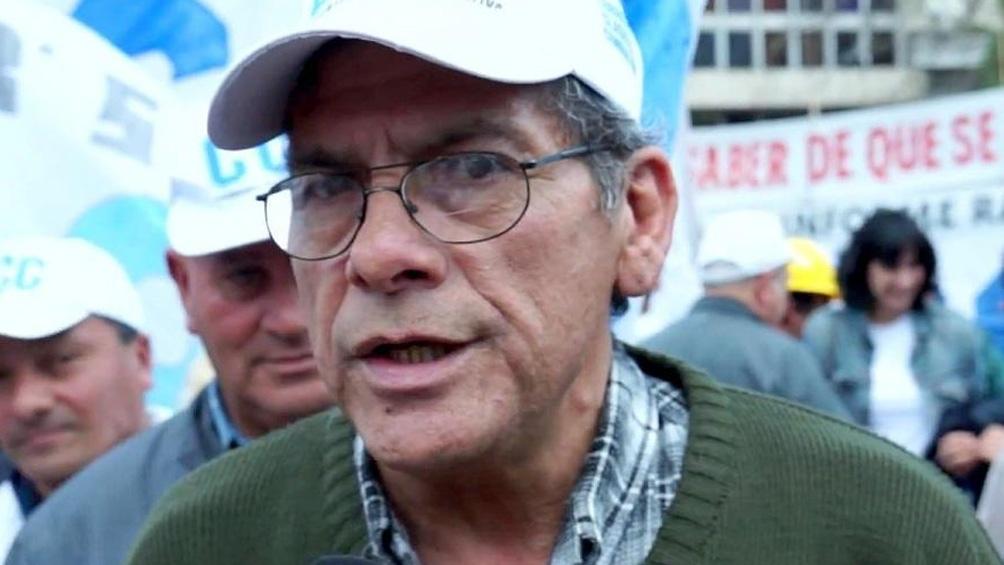 Juan Carlos Alderete, de la Corriente Clasista y Combativa.