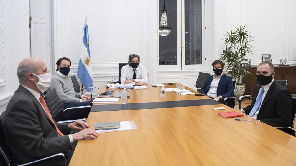Cafiero y Guzmán recibieron esta noche al gobernador de Buenos Aires