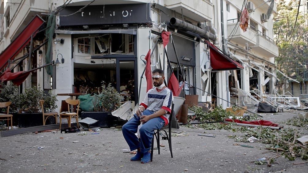 La explosión dejó un centenar de fallecidos y heridos.