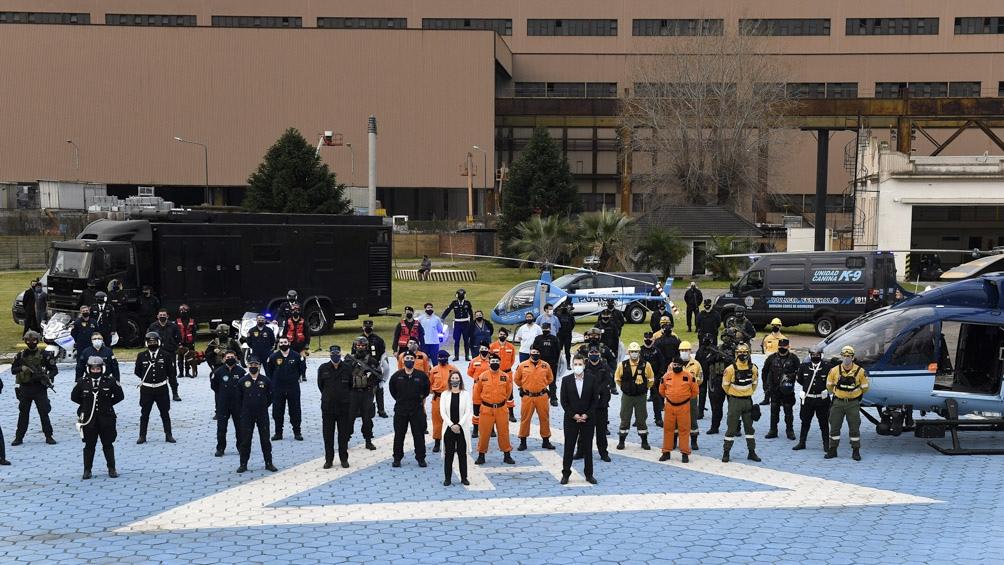 Massa y Frederic recorrieron las instalaciones y el equipamiento tecnológico