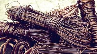 Secuestran más de 13 toneladas de cobre, en una investigación por robo de cables