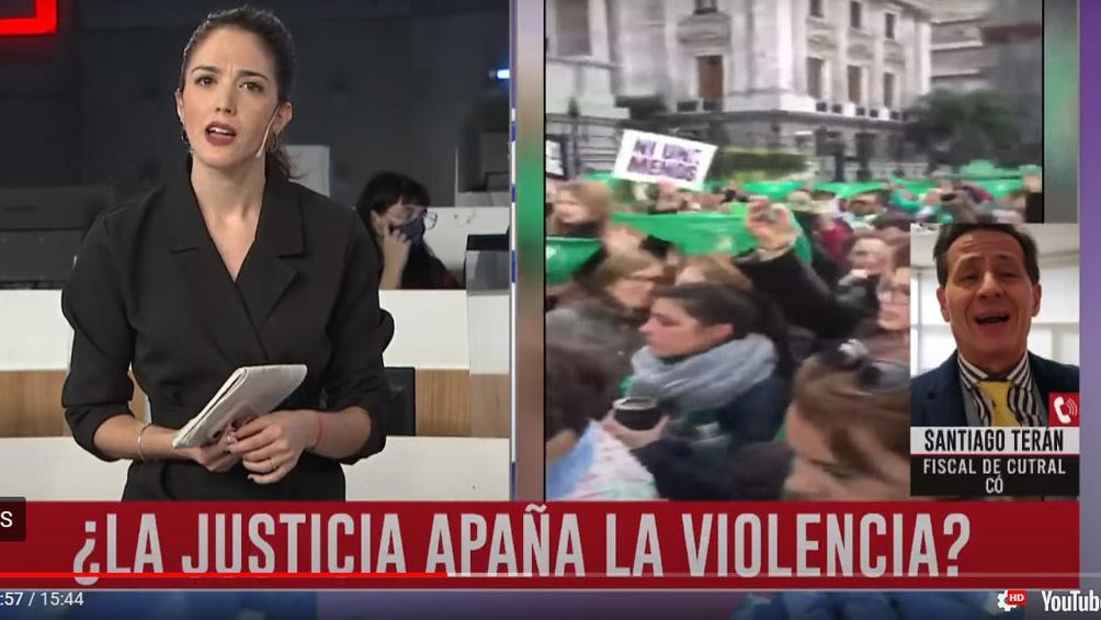 El fiscal Santiago Terán violentó a la periodista de C5N durante una entrevista televisiva.