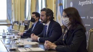 """El tema del suelo """"es central para el Gobierno"""", afirmó Cafiero."""