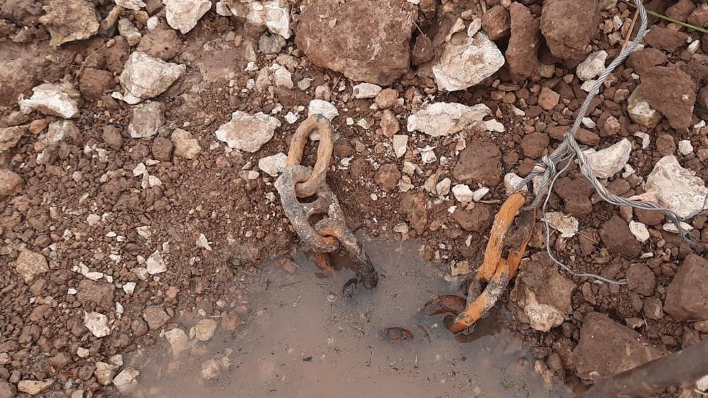 """De más de un metro de longitud, """"es el segmento de cadena más largo encontrado"""" de la Batalla"""