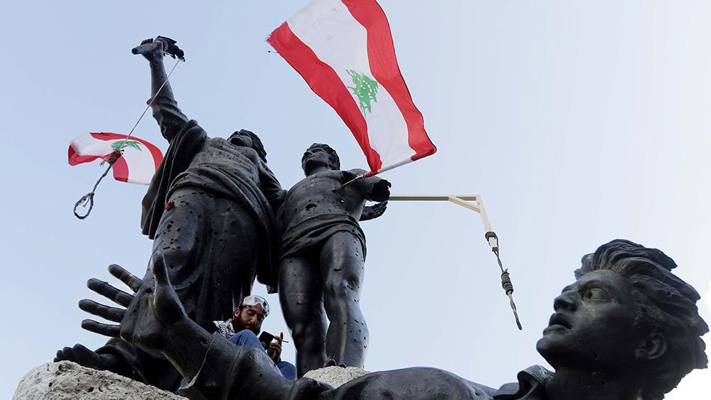 Los enfrentamientos ocurrieron cerca del Parlamento libanés