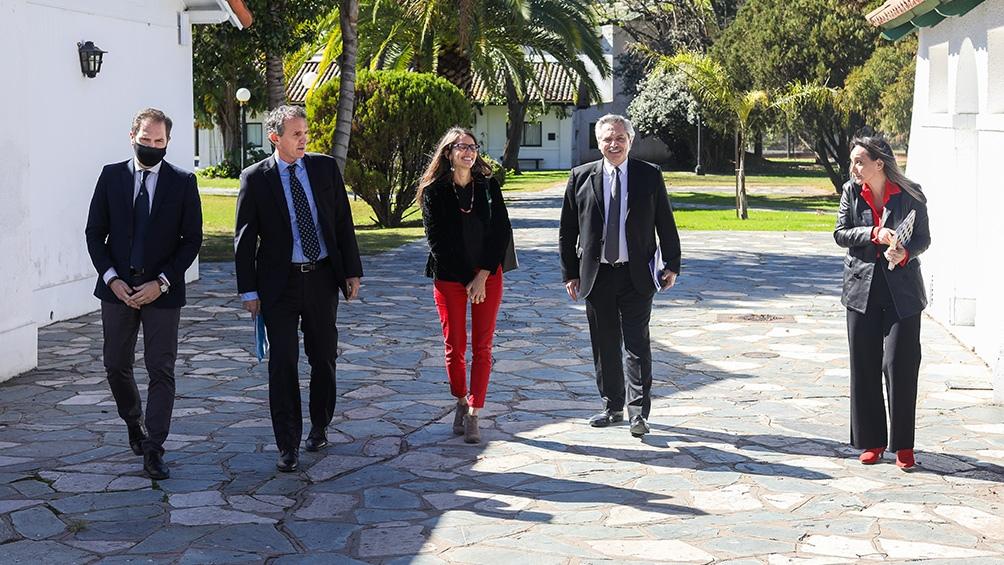 Katopodis, Fernández, Gómez Alcorta y Galmarini en la presentación del proyecto.