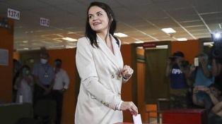 La opositora Tijanóvskaya afirma que no busca la presidencia sino nuevas elecciones