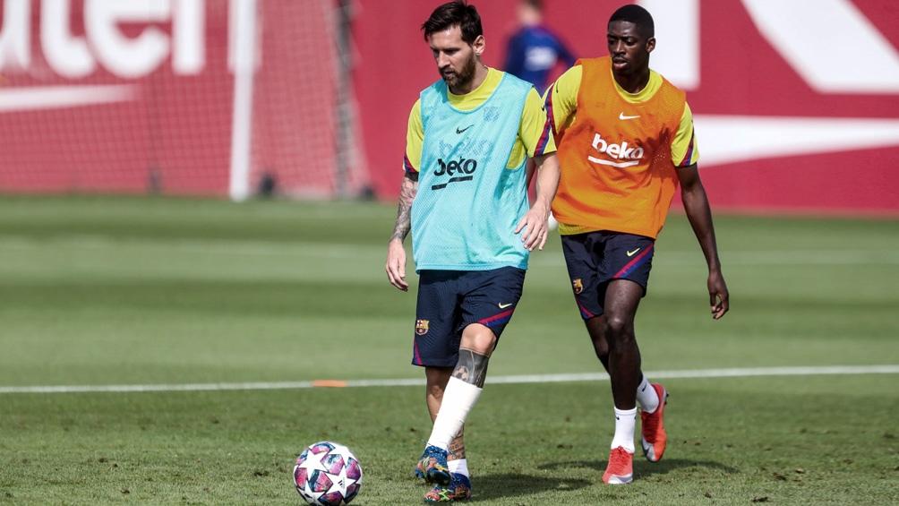 """Messi tomó parte del ensayo que diagramó el entrenador Enrique """"Quique"""" Setién"""