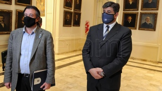 El ministro de Gobierno Víctor Ibañez y el vicegobernador Mario Abed presentaron el proyecto.