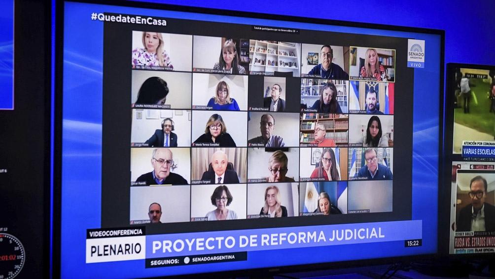 El dictamen de mayoría del proyecto de ley de reforma judicial quedó en condiciones de ser debatido en el recinto el viernes próximo