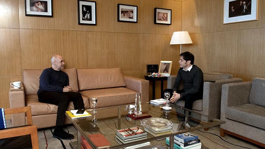 """El jefe de Gobierno porteño, Horacio Rodríguez Larreta y  Kicillof, se reunieron para """"actualizar"""" datos de la situación epidemiológica de la pandemia"""