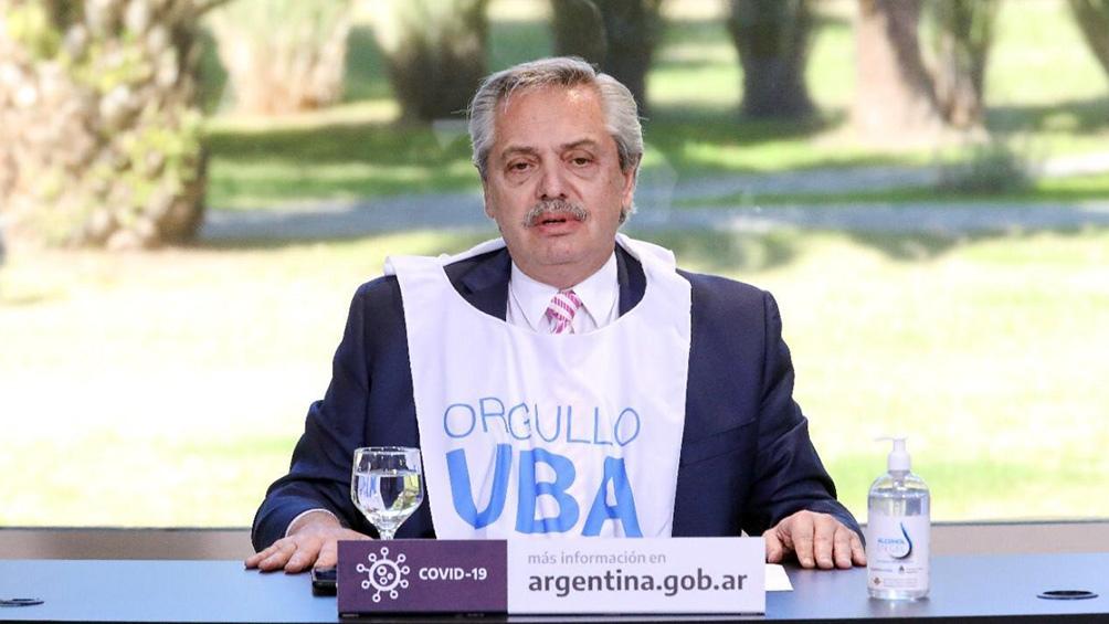 Alberto Fernández participó del acto por el 199° aniversario de la creación de la Universidad de Buenos Aires (UBA).
