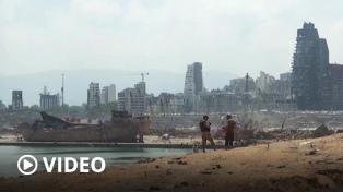 El puerto de Beirut retoma parte de sus operaciones a una semana de las explosiones