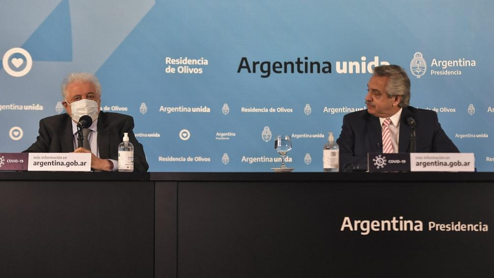 """El jefe de Estado ya había adelantado que este martes se reuniría con González García para """"diagramar el proceso de vacunación""""."""