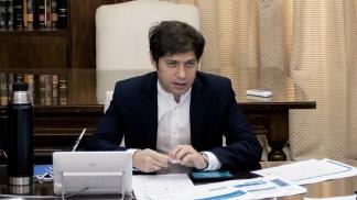Axel Kicillof en su despacho 565