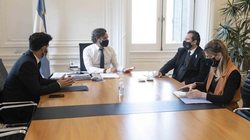 El anuncio fue realizado tras una reunión de Santiago Cafiero, con Tristán Bauer, Matias Tombolini y Luciana Tito.